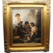 Outstanding Large KPM Berlin Plaque The Melon Eater Murillo