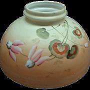"Antique Victorian Art Nouveau 10"" Shade Student Oil Kerosene Lamp GWTW"