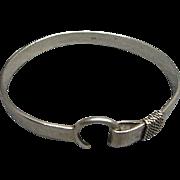 Heavy Vintage Sterling Silver Stirrup Bracelet