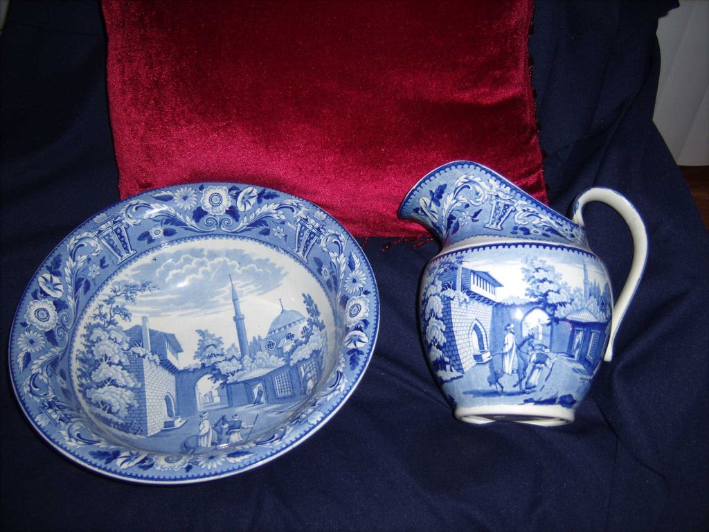 Staffordshire Jug and Bowl