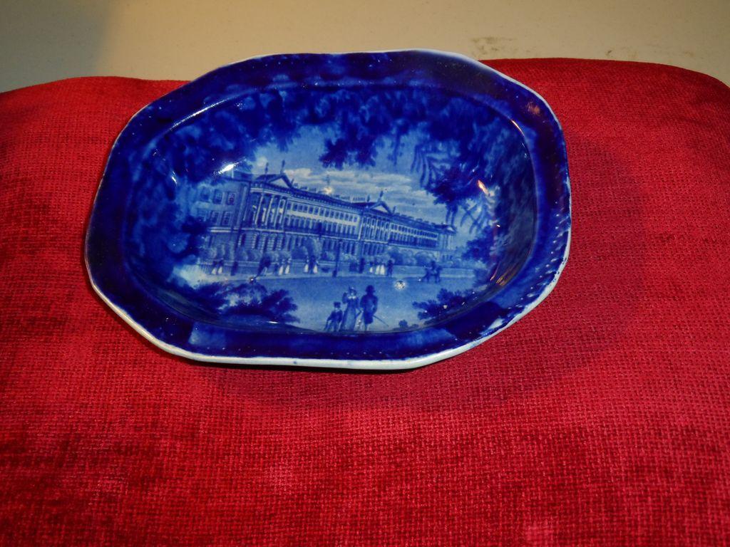 Staffordshire Dark Blue Pie Dish