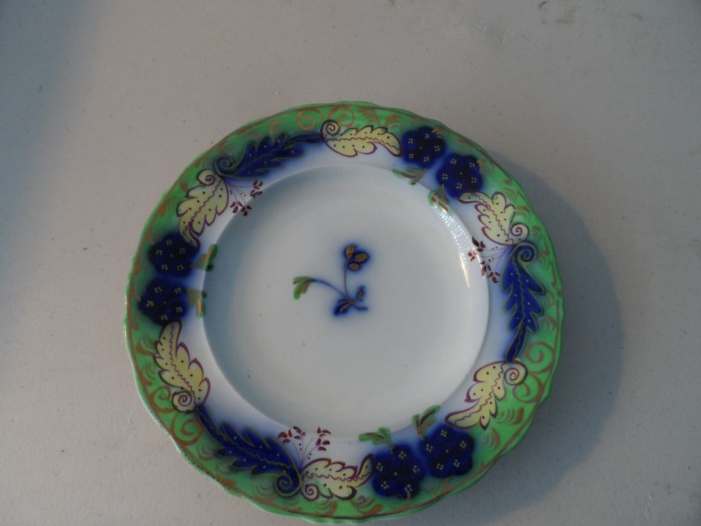 """Ground Green and Flow Blue 7"""" Plates  (3)"""