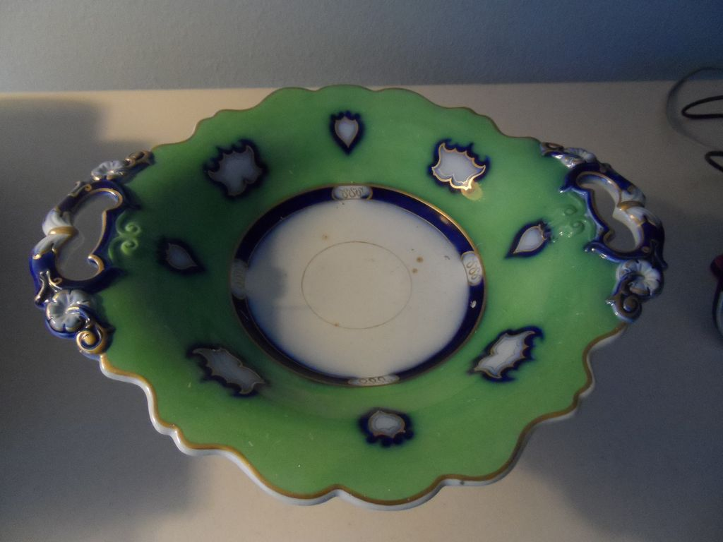 Ground Green and Flow Blue Compote