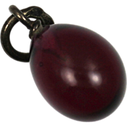 Tsarist Russian Garnet and Silver Easter Egg Hallmarked