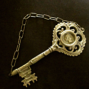 Large Brass Key Rack Cameo For Keys