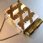50's Compact Purse Lipstick Holder Zell Fifth Ave.
