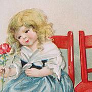 Darling 1918 Ellen Clapsaddle Embossed Valentine Postcard