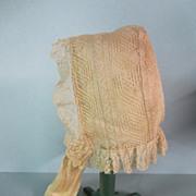Victorian Handmade Lace Bonnet