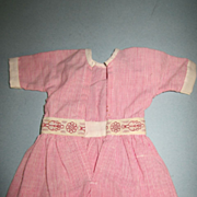 Vintage Cotton Red and White Stripped Dress
