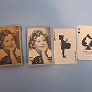 Original 1930's Shirley Temple Bridge Playing Cards