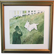 """A Watercolor of a West Highland White Terrier or """"Westie"""""""
