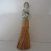 Flapper Half Doll Whisk Brush 1920's