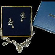 Avon Gloriana Earrings & Necklace Set ~ In Original Box