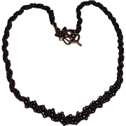Impeccable Carnival Glass Micro Beads Embroidered Necklace