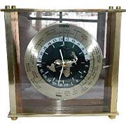 Vintage Seiko World Time Mantel Clock