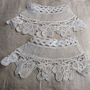 Early 18 th century bobbin lace cuffs.superb condition.