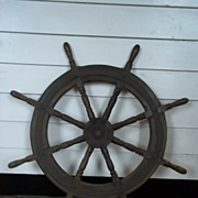 Vintage Ships Wheel  From A Chinese Junk  #1