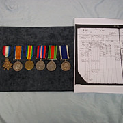 Collection of WW1/2 Royal Navy Medals 1914-15 Star, Brit War, Victory, War, Defence, LSGC & Records, John Martin