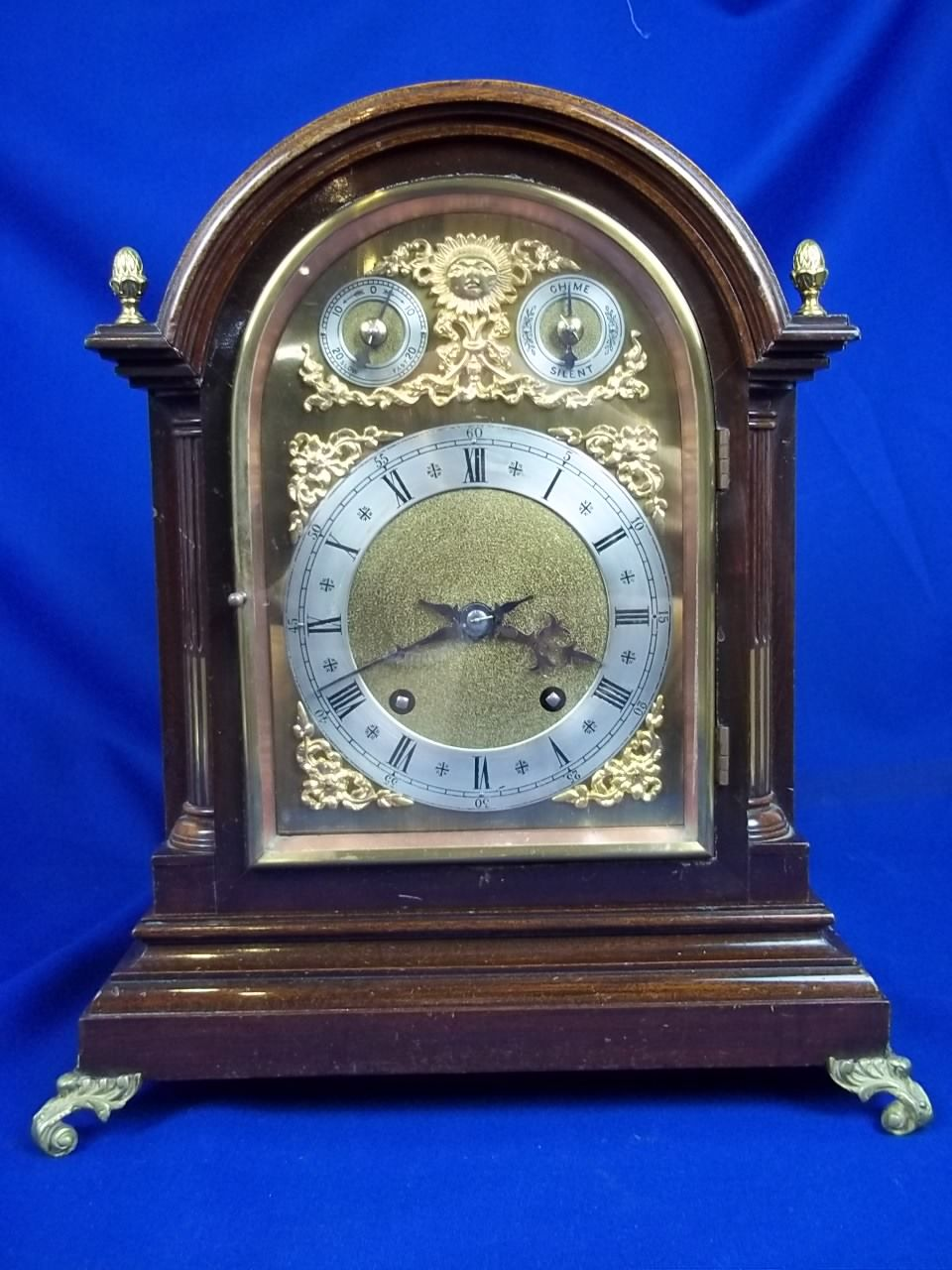 A Fine Oak Cased Striking Mantle Clock By Winterhalder And Hofmeier Germany Circa 1880