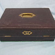 A Tiger Wood & Leather Bound Early Edwardian c1910 Writing Slope