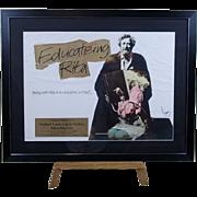 Original Art Work For Educating Rita Cinema Poster By Vic Fair Signed