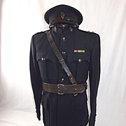 Circa WW2 Royal Ulster Constabulary  District Inspector 3rd Class Ulster 'B' Specials Tunic & Cap