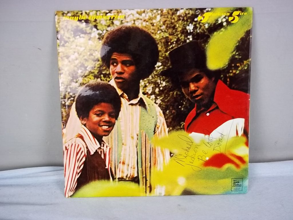 Jackson Five Autographed 'Maybe Tomorrow' Album STML 11188 Signed By Michael & 3 Others