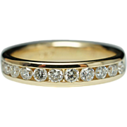 Thin .50ctw Diamond Anniversary Band 14k Yellow Gold Wedding Ring