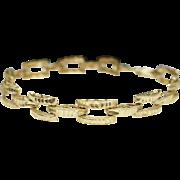 Vintage Estate 10k Yellow Gold Bracelet