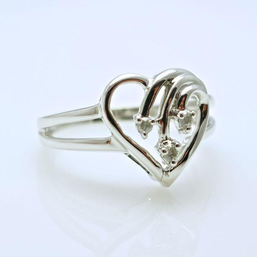 Heartfelt Pleasure - Diamond Open Heart Ring