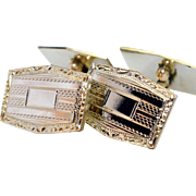 1930's Gold Plated Mens Cuff Links