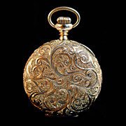 Waltham 14k Yellow Gold Pendant Pocket Watch-Antique