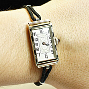 Vintage Womens 18k White Gold Gruen Watch