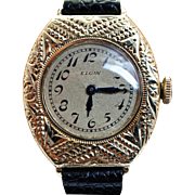 Vintage Ladies Elgin Gold Filled Wrist Watch - Womens Watch