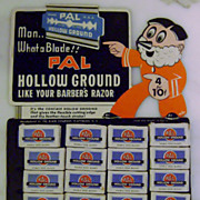 Vintage Pal Razor Advertising Store Easel Display
