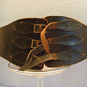 Vintage leather motorcycle belt