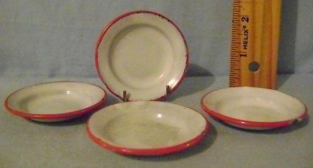 Vintage Children's Mini Granite Soup Bowls