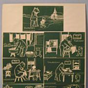 Vintage Teddy Bear Post Card Set