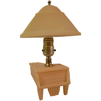 Vintage Glass Piano Lamp