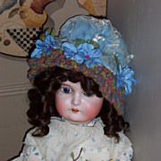 "24"" German Bisque Head Doll Marked ""AW Special"""