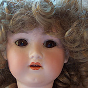 "Sweet 23"" Bisque Head Doll - Marked GB - Pretty Face"