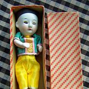 "Sweet 6"" Bisque Head Baby in Original Box w/Working Squeaker"