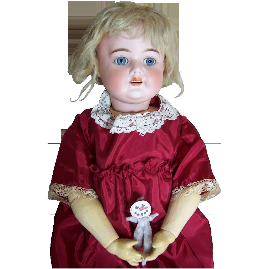 """26"""" Antique S&H 5000 Doll - Unique Look & Pretty Features"""