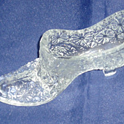 Glass collectable shoe