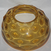 Amber hanging oil lamp shade