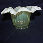 Vaseline opalescent glass shade
