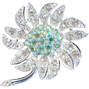 Sarah Coventry Rhinestone Brooch Mountain Flower
