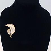 Trifari Gold-Tone Modernist Brooch