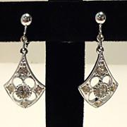 Vintage Sarah Coventry Dangle Rhinestone Earrings