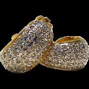 Fabulous 80s VALENTINO Rhinestone Pave Earrings!!